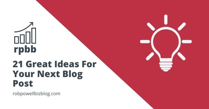 ideas for your next blog post