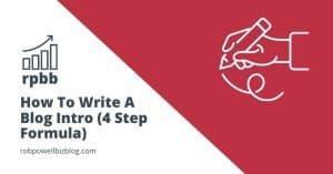 how to write a blog intro