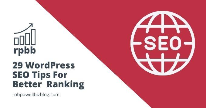 29 WordPress SEO Tips