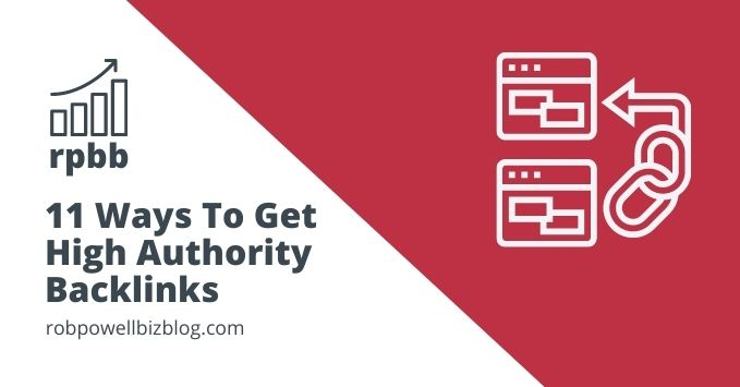 how to get high authority backlinks
